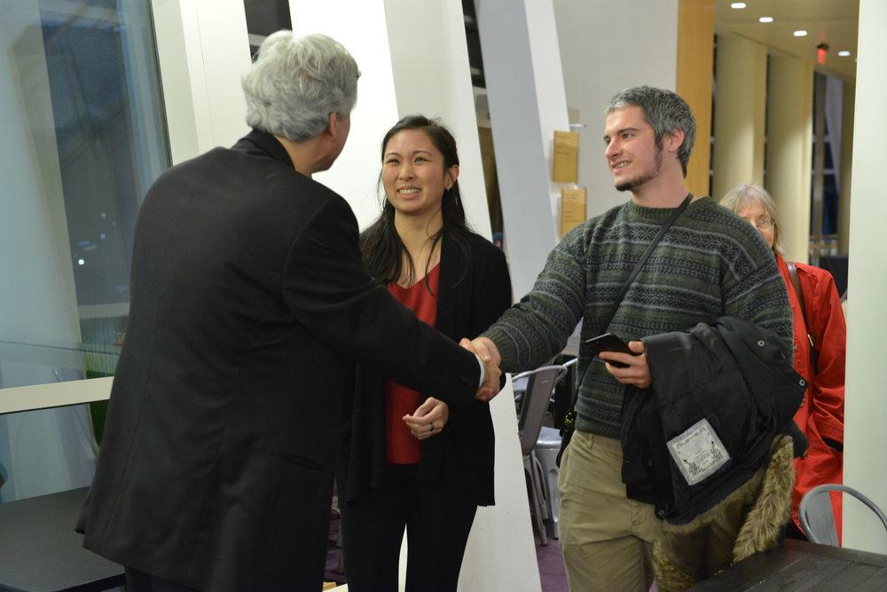 Brian meets Rose Ligsay at the 2018 Chopin concert.
