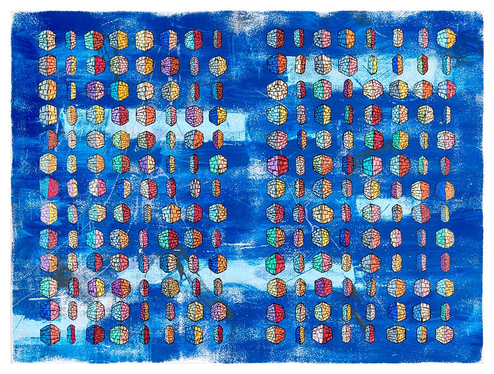 Binary Code Alphabet (blue)
