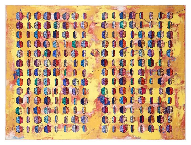 Binary Code Alphabet (yellow)