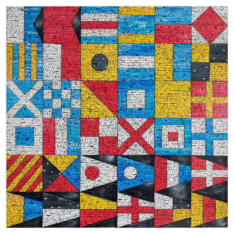 Nautical Flag Alphabet and Number Pennants (brick)