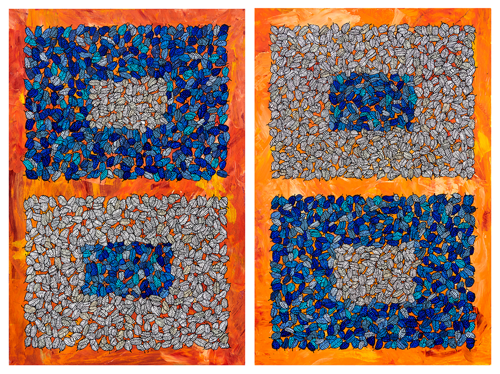 PSSP, diptych of panels each 24x36