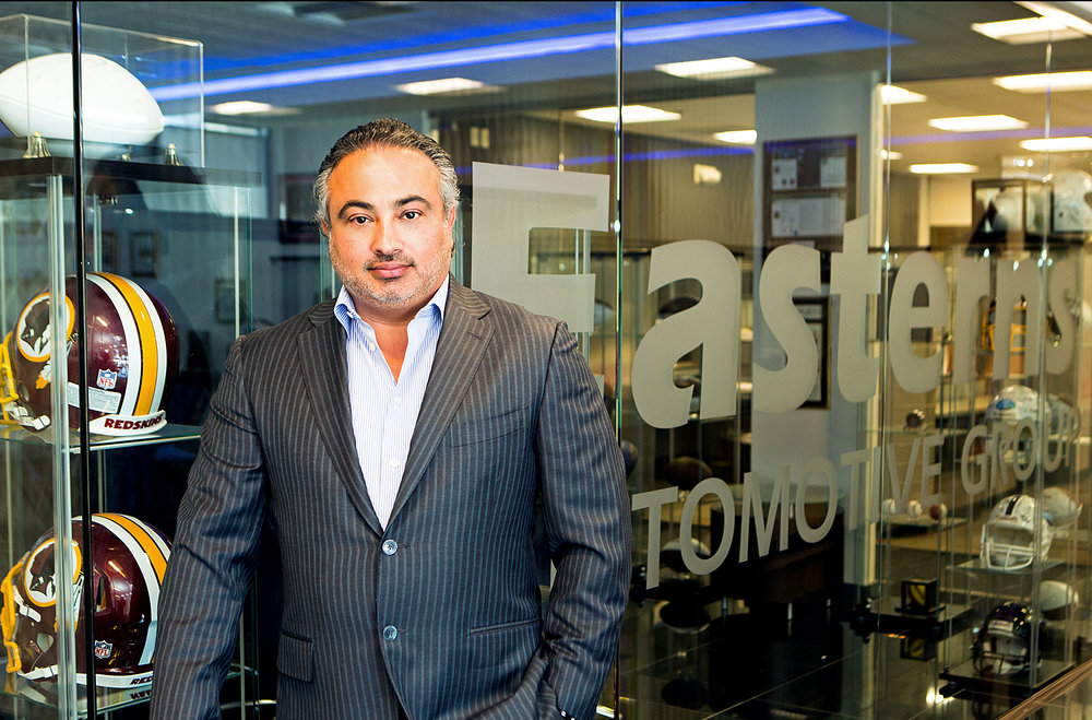 Robert Bassam at Easterns Automotive Group Corporate Building