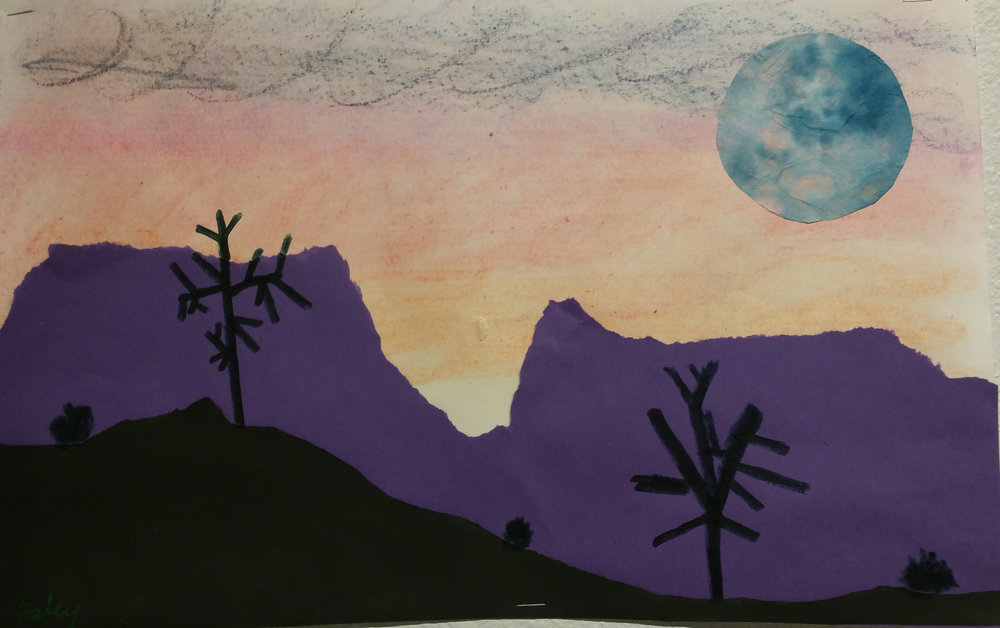 Desert Landscapes - Artwork by children involved in SITES.