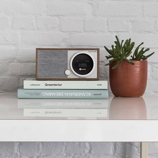 """Known as the """"modern man's radio,"""" this beautifully designed speaker is one for the books. The simplistic design makes it the perfect complement to your home and addition to spaces of all sizes 🏠 . . . 📸: @tivoliaudio"""