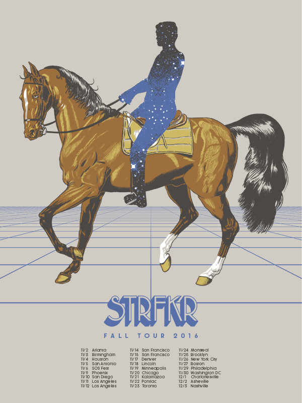 5 color silk screen for STRFKR's 2016 fall tour.