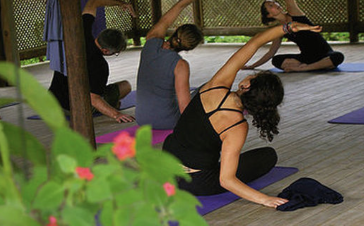 Yoga classes on the river are offered twice per day and included in your stay!