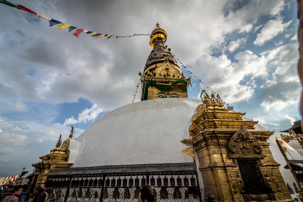 Boudhanath Stupa in Kathmandu, largest Tibetan Buddhist stupa in the world
