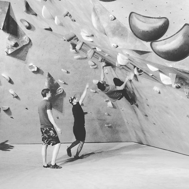 Wicked gig at Seven Bays Bouldering in Halifax, playing then climbing!