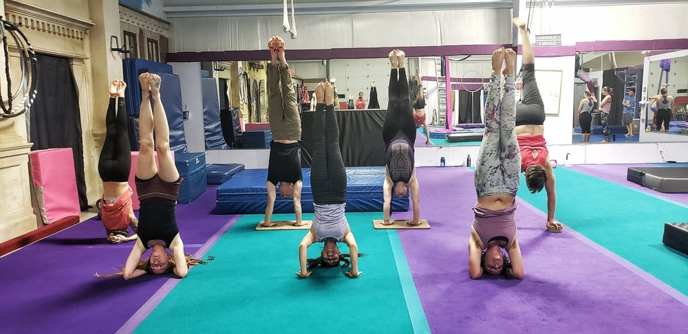 Handstands and Inversions Class with Arkansas AcroYoga at ACA