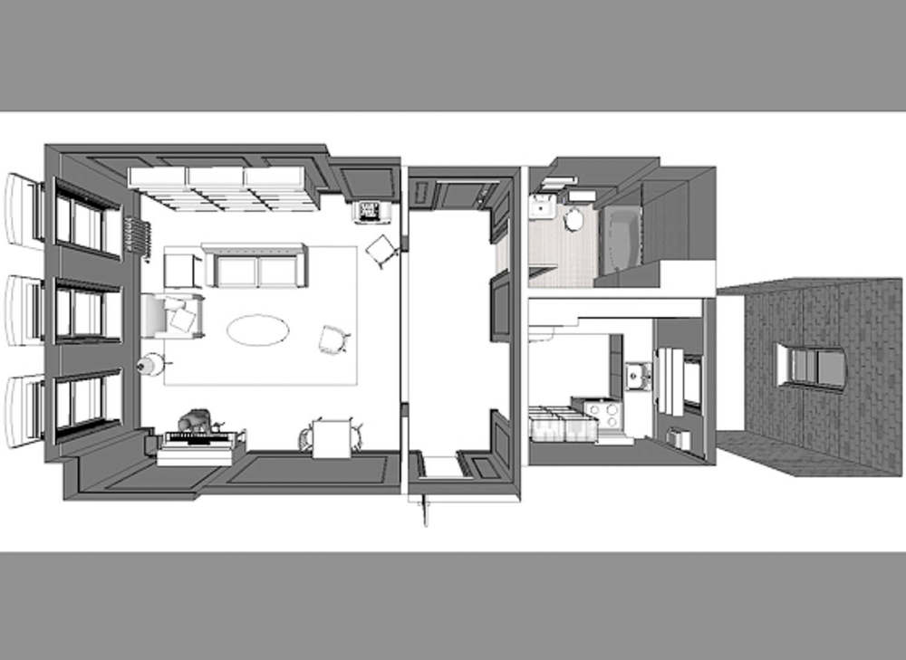 Samu0027s Apartment   3D Model Samu0027s Apartment Was Built Into An Empty Building  That Had Been