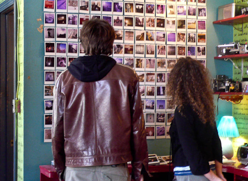Pi's Studio - Dressing Polaroid wall