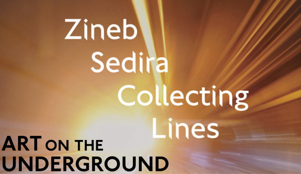 ZINEB SEDIRA, 'UNDERLINE' FOR ART ON THE UNDERGROUND, INSTALLED ACROSS LONDON.   Click here for more info