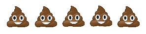 5/5 Smiley Poops