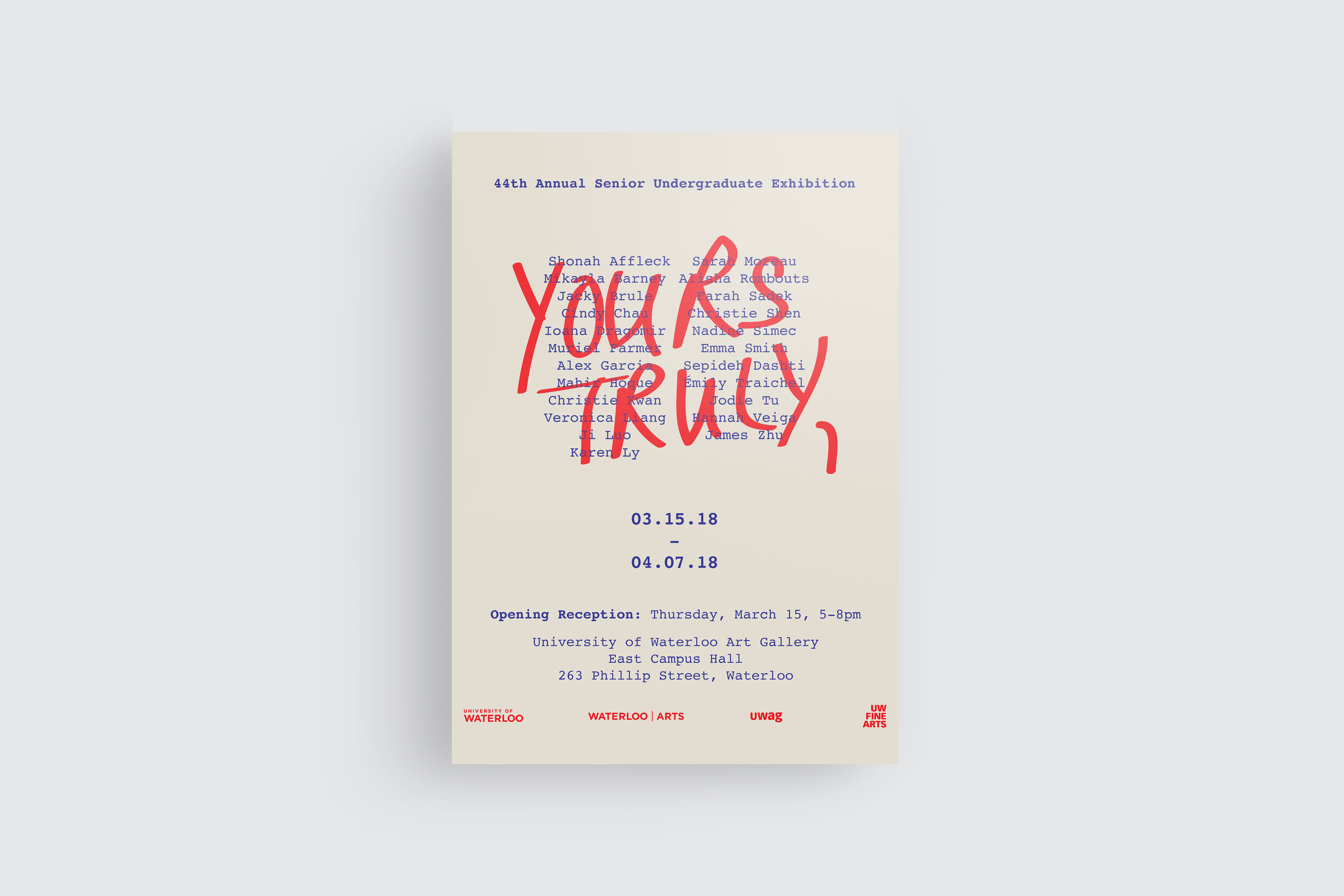 Yours truly christie kwan yourstrulyposterg colourmoves