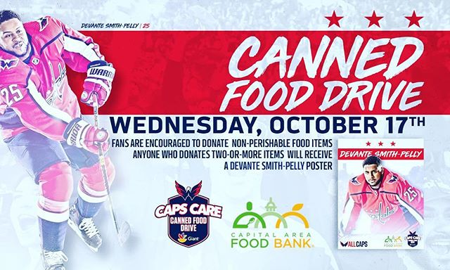 Hey we know you're going to watch the @capitals tomorrow night right? Well take canned food to donate to @capitalareafoodbank and get some sweet Devo swag as a thank you. 😎😎 as usual with @msefoundation - everybody wins!! #communityfirst