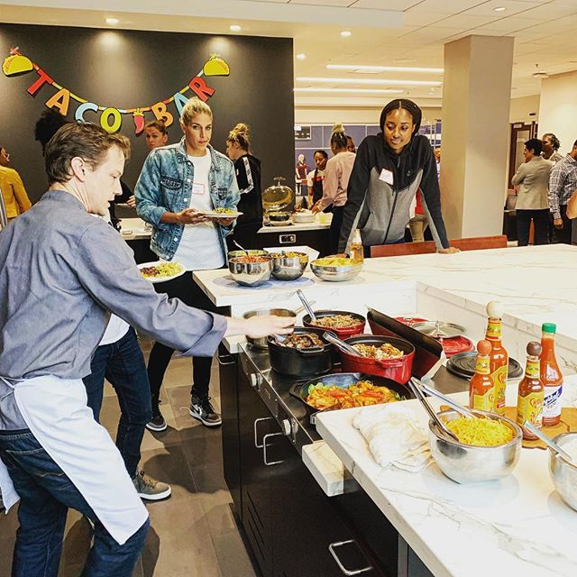 We're excited to be working with @washmystics all season. Kicking off the season with a #cincodemayo fiesta !