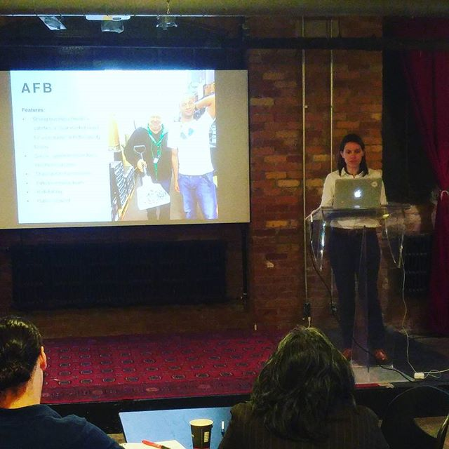 Bronwyn Oatley talking about AFB, a leading German social enterprise #socent #tw