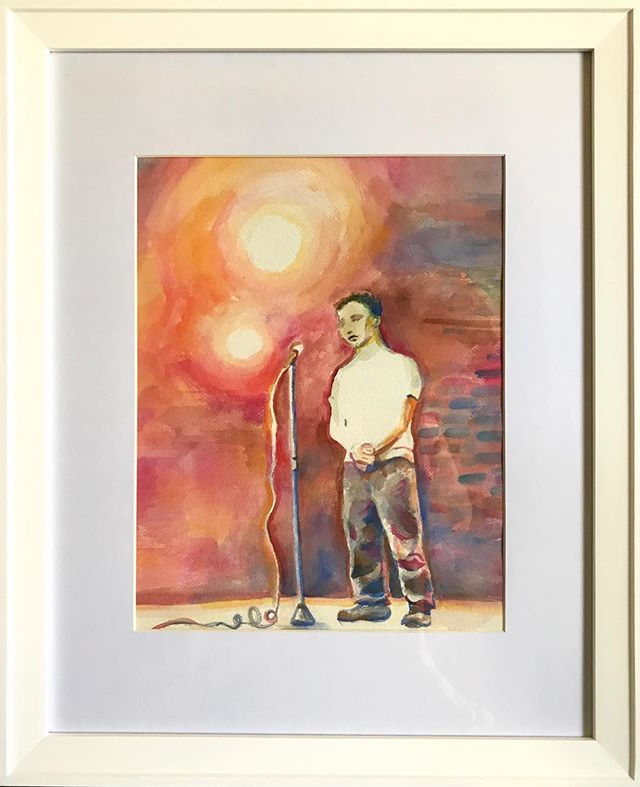 A beautiful #watercolor of #carlossegovia by @meoremy , a former Dear Future teacher. Carlos was taken from the world a year ago, but his poetic and giving soul lives on in so many ways. #dearfuturela #afterschool  #artclub #arteducation #highschoolart #wegettogive #artstudent #artmentor #artchangeslives #nonprofit