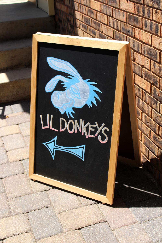 Lil Donkeys Chalkboard