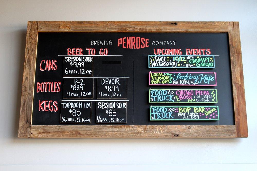 Penrose Chalkboard Sign