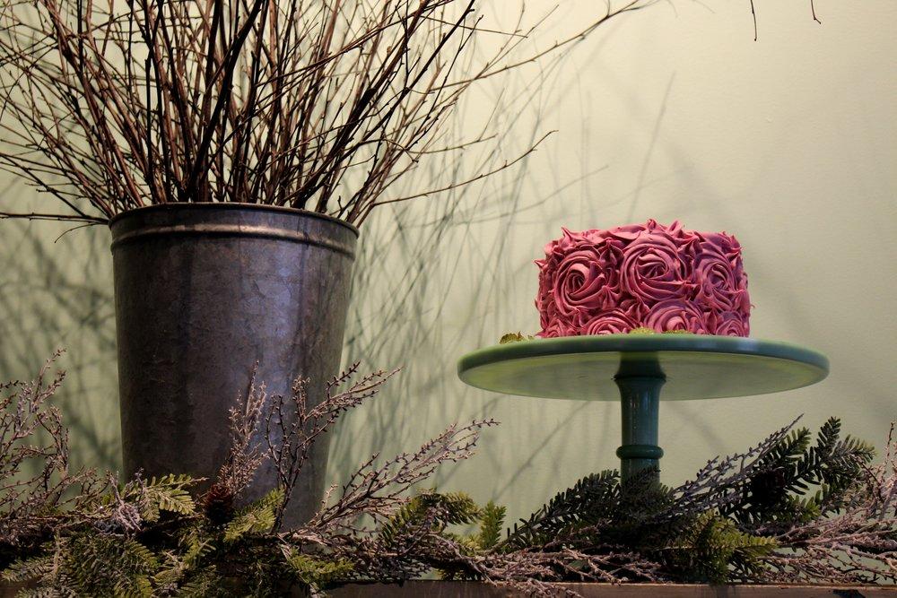 Two Wild Seeds Rose Cake