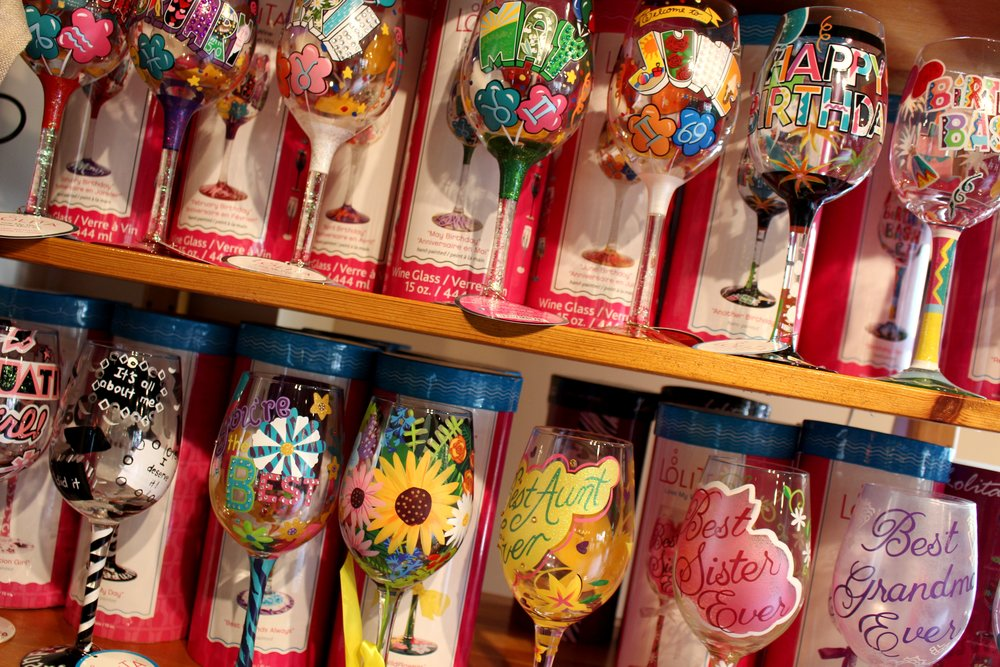 Galena Cellars Lolita Painted Glasses