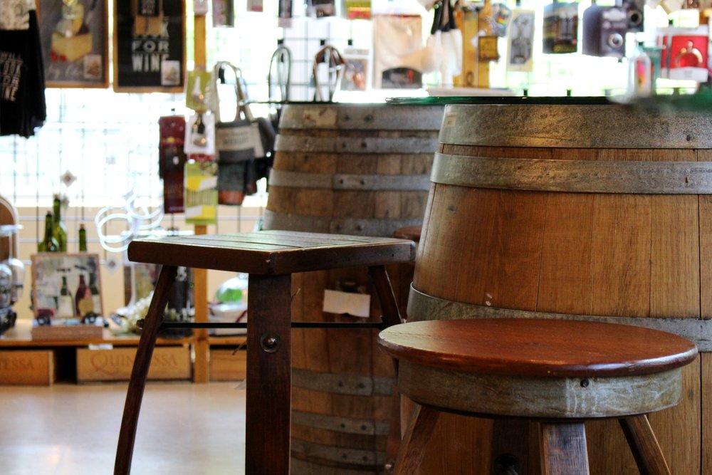 Galena Cellars Barrel Seating