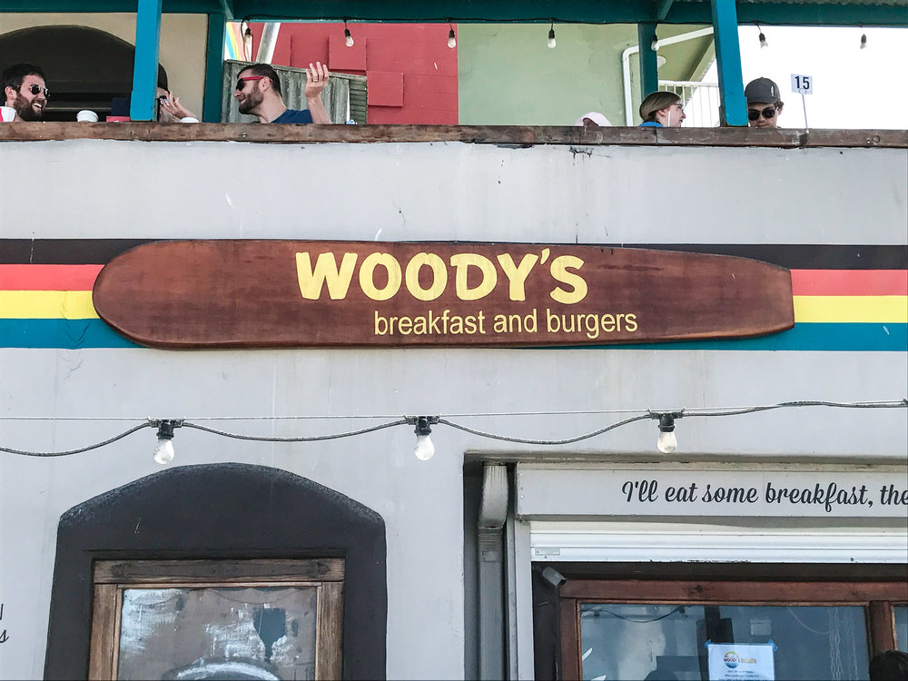 Exterior of Woody's in Mission Beach