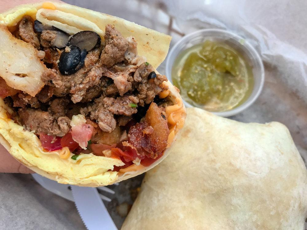 Woody's Carne Asada Breakfast Burrito