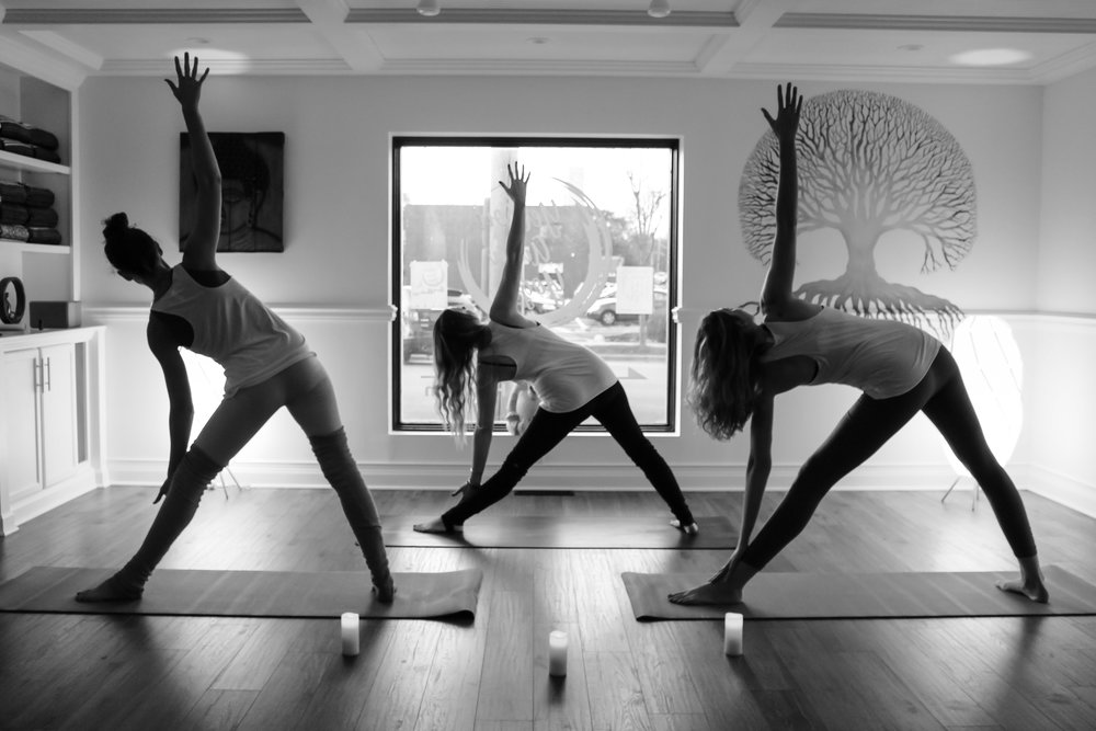 Yellow Aura Yoga Class