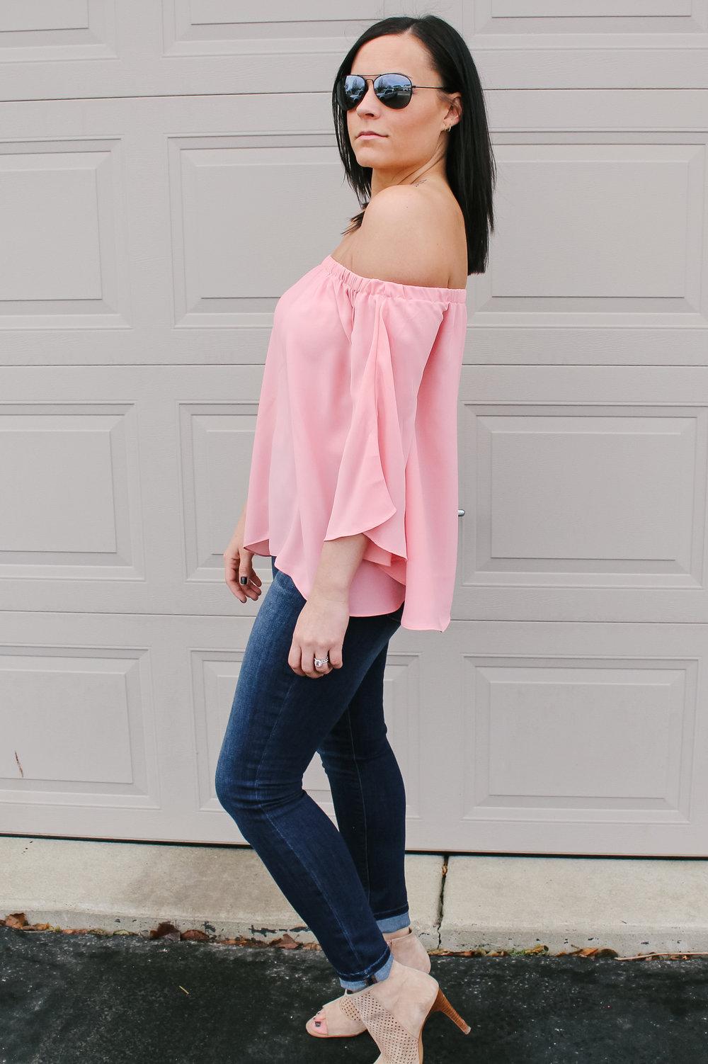Laura Swan Sieckman Pink Top