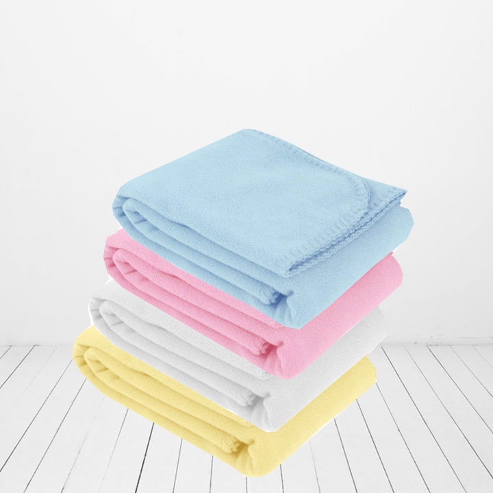 Pastel fleece baby lap blanket