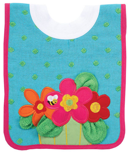 AM PM Kids Bib with washcloth