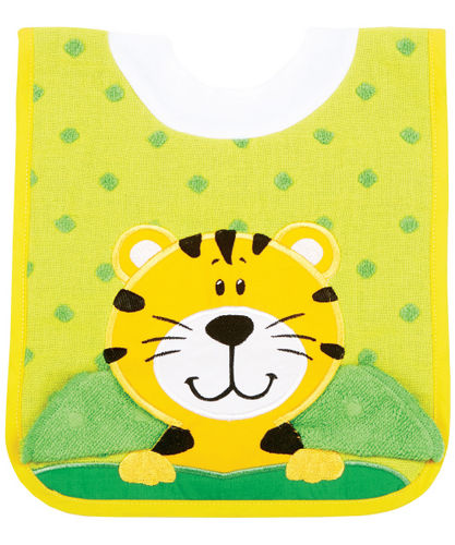 AM PM Kids tiger bib with washcloth