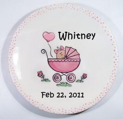 Clayberry Cottage Stroller Birth Plate