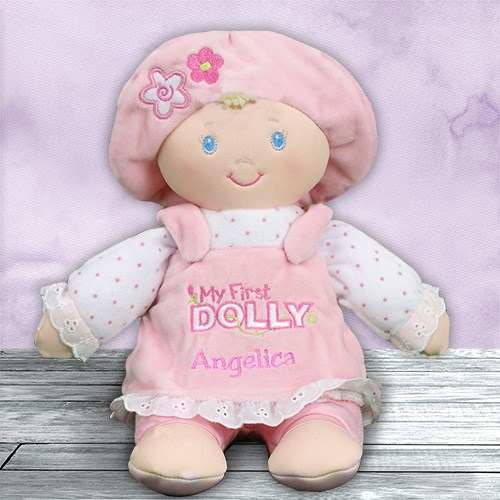 Personalized my first dolly blondbrunette personalized baby gifts negle Gallery