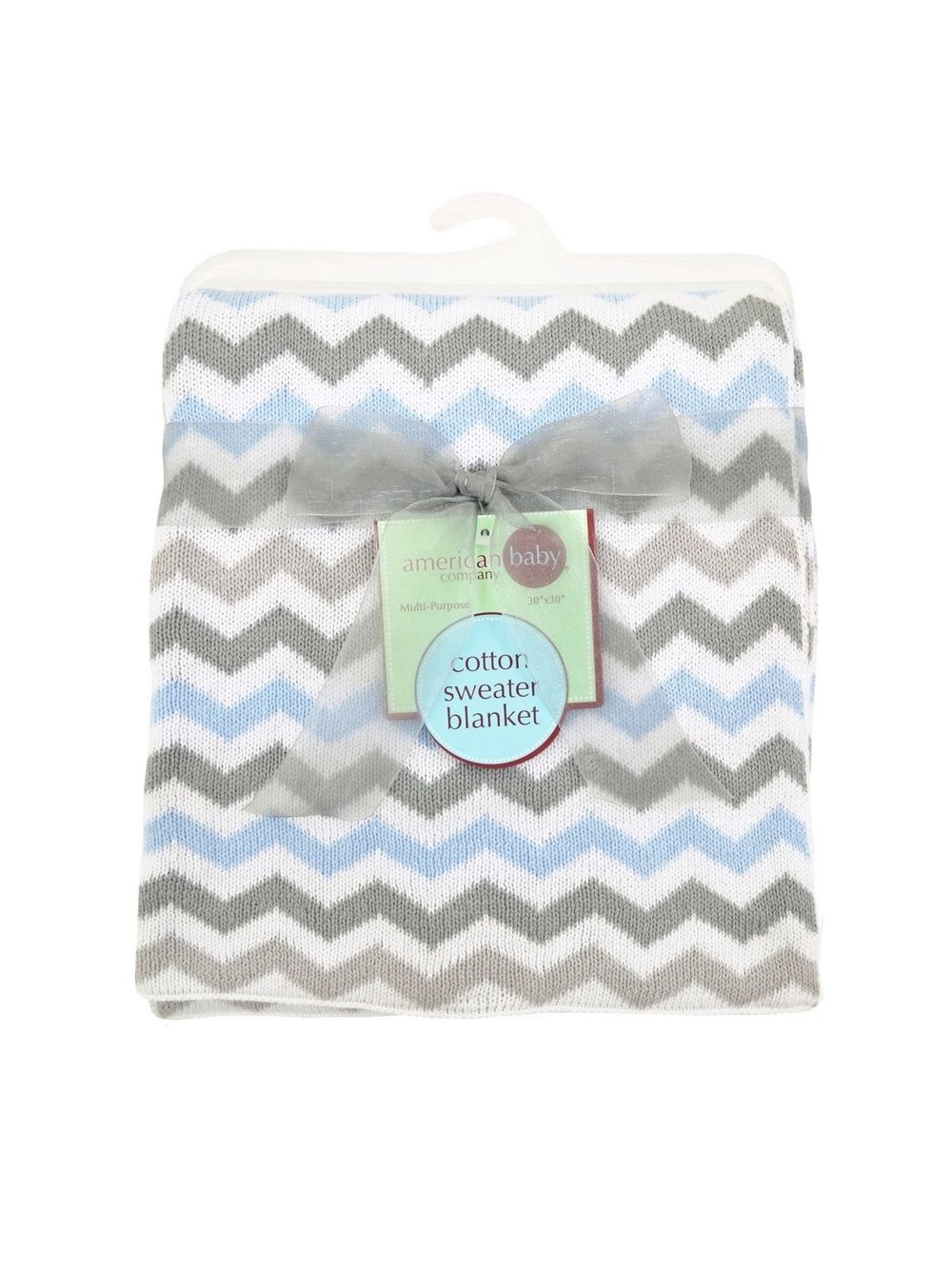 Blue Gray Chevron Sweater Blanket