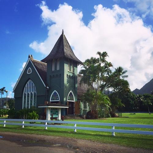 Historic and charming Wai'oli Hui ia Church
