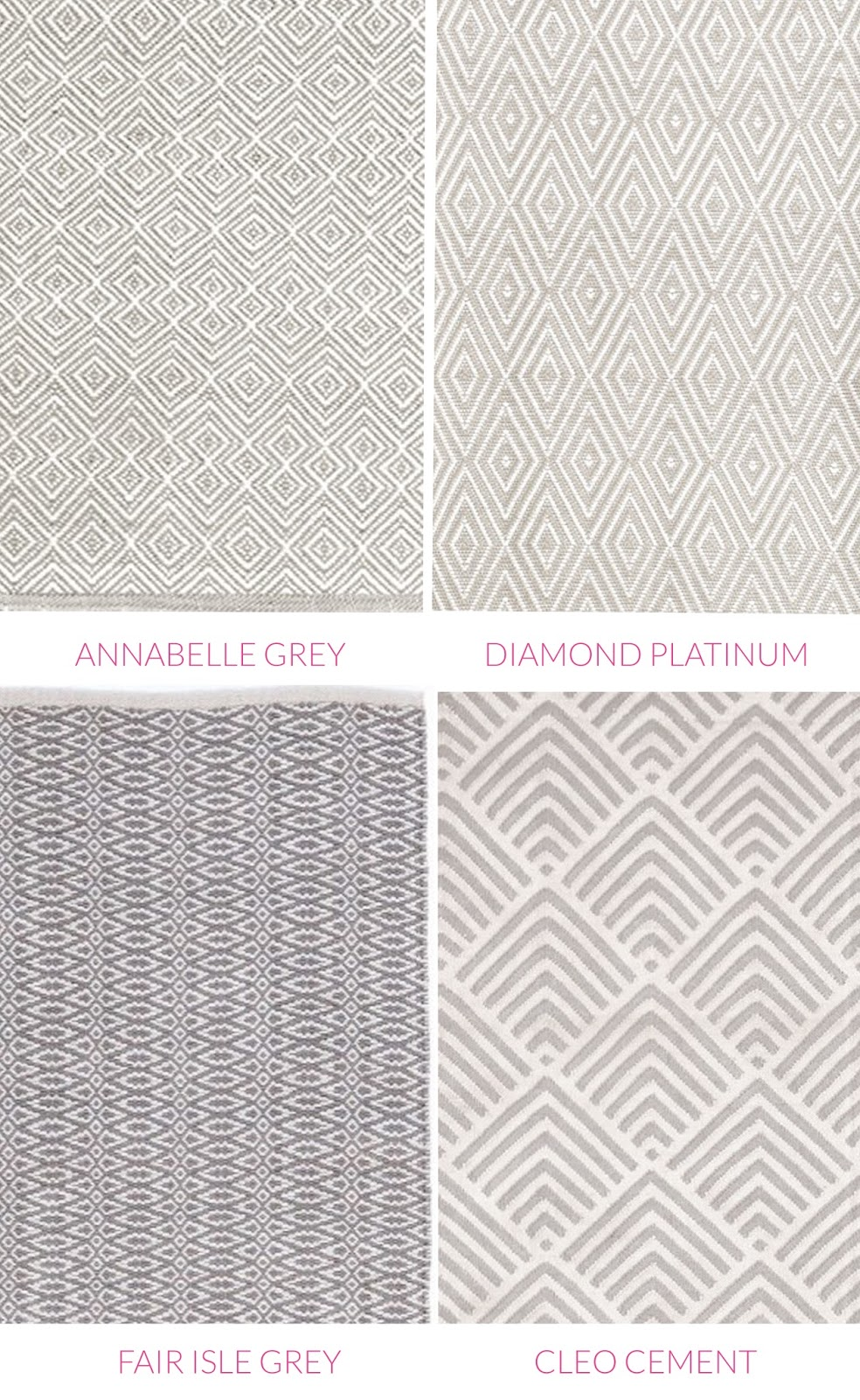 Darlings of Chelsea bedroom grey and white rugs