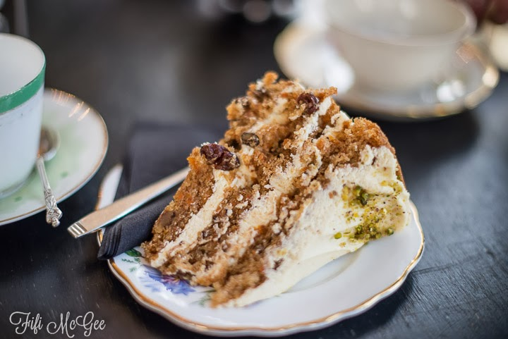 Brighton tea and cake review at Metrodeco: Carrot Cake