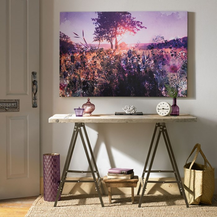 Beautiful landscape art and console table from graham and brown