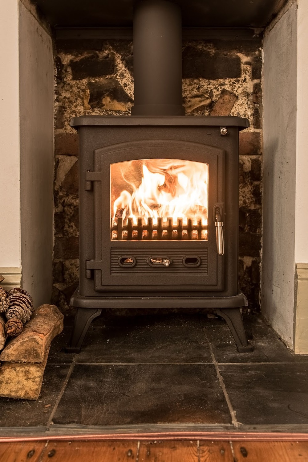 Getting a wood burning stove fitted: Before + After photos