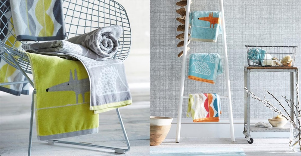 bright patterned towels for the bathroom