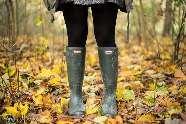 Hunter wellies: Fifi McGee Brighton blogger