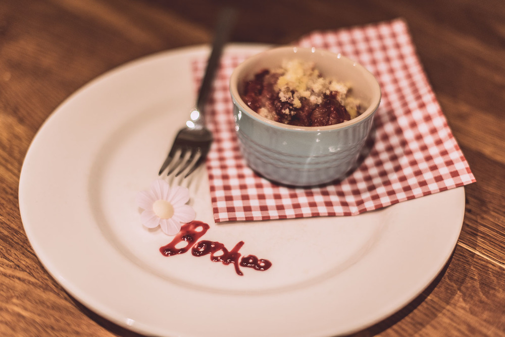 Great Boohoo Bake Off: Delicious Apple + Plum Crumble dessert recipe