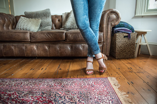 Styling a persian rug in the living room