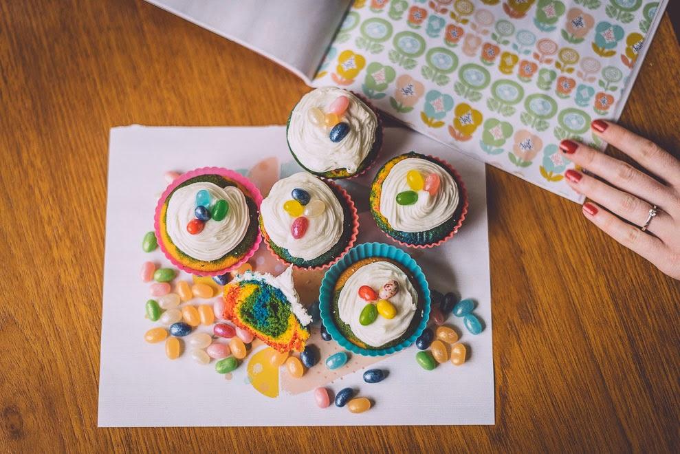 Rainbow cupcake recipe