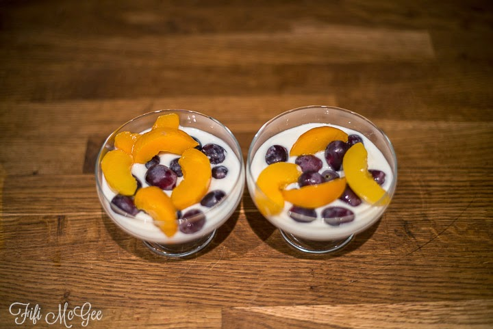 Natural Yogurt & Fruit Salad, yum! Like my interior bargain?