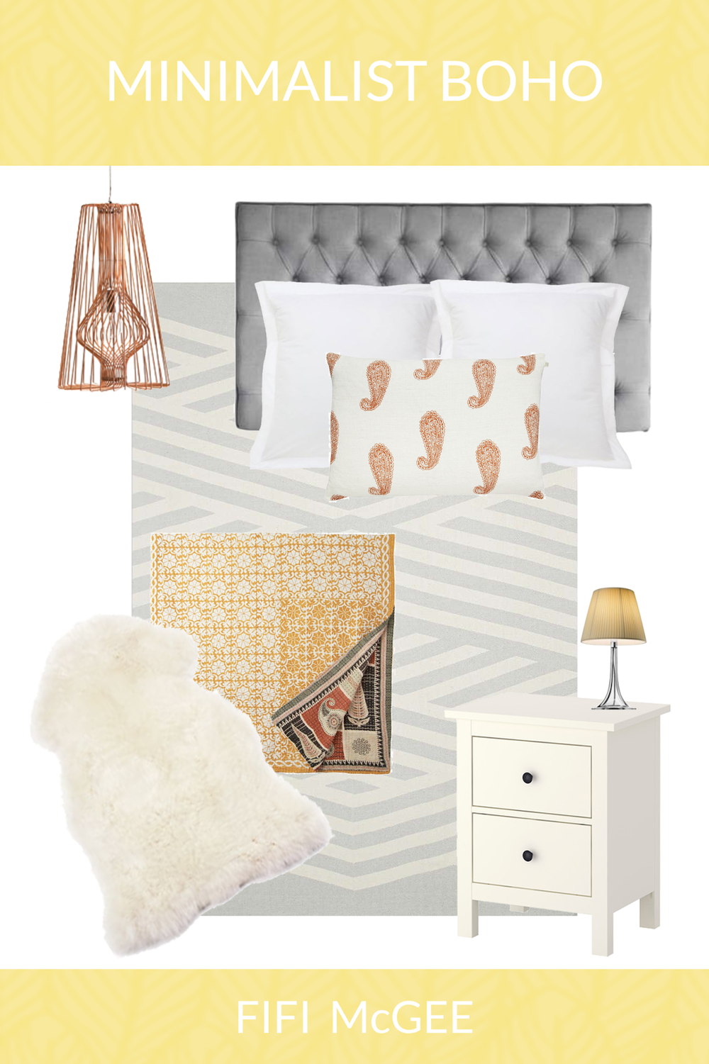 My Minimalist Boho Bedroom Mood Board John Lewis GBP50 Giveaway