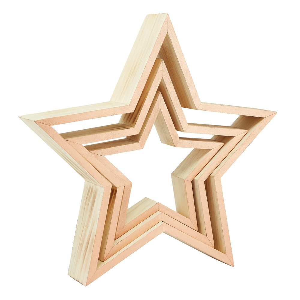 wooden stars are in fashion. These are being used at my mum's house until me and Neil get shelves put up in our new place... Another all year round decoration